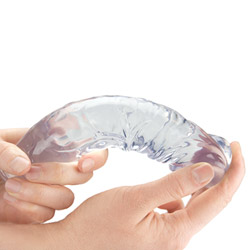 Flexible realistic dildo - Clear realistic dildo - view #2