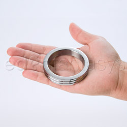 Cock ring - Groove stainless steel cock ring - view #1
