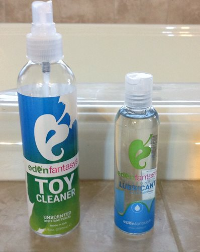 Eden toy cleaner and lube