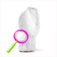 Rabbit fur mitt