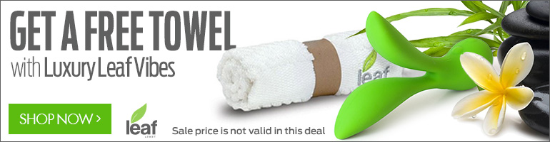 Get A Free Towel With Luxury Line of Vibrators from Leaf!
