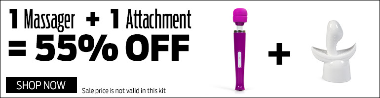 Save 55% on massager and attachment kit