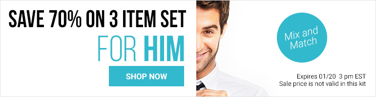 Save 70% On 3 Item Set For Men