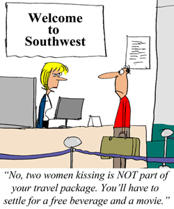 Southwest Airlines Has No Affection for a Lesbian Kiss