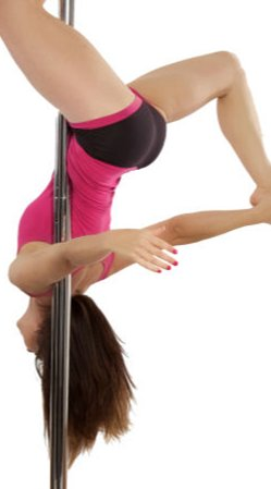 Benefits to being sexy: Pole dancing is good for your health.