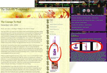 Screenshot EdenFantasys and LiveJournal.com