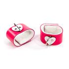 Pink heart ankle restraints
