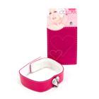 Pink heart collar