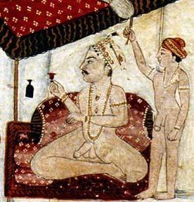 prince sup Mughal miniature