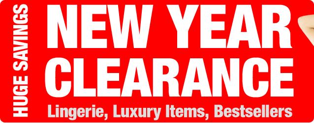 New Year Clearance. Huge Savings
