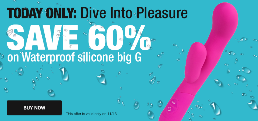 Today only: Dive into pleasure. Save 60% on Waterproof silicone big G