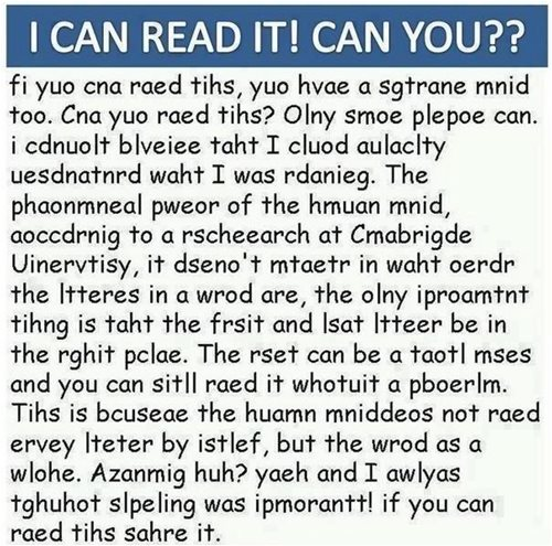 jumbled spelling