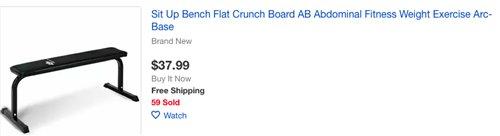 ebay weight bench