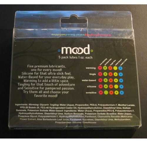 The Mood lube 5 pack - Back