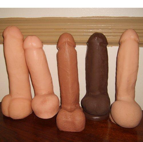 five big skin-like cocks