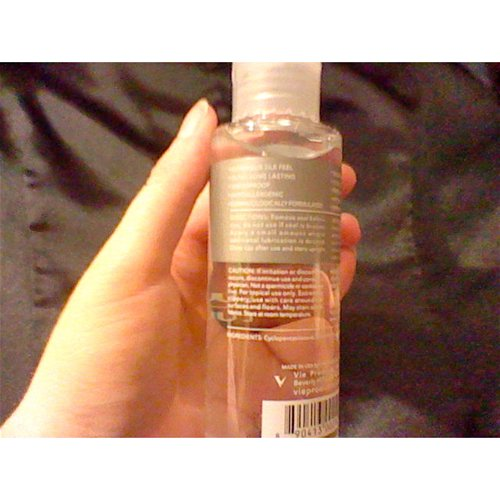 V Silicone Lubricant – lubricant back of bottle info