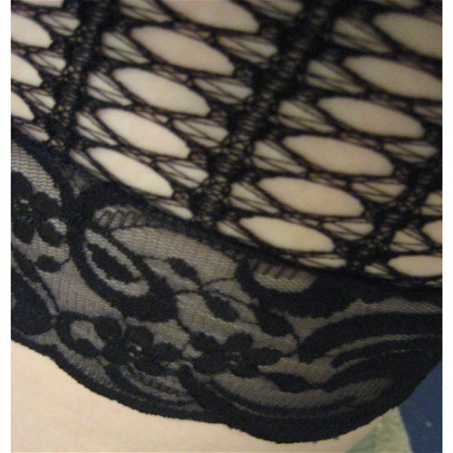 Lace is stretchy and three inches wide