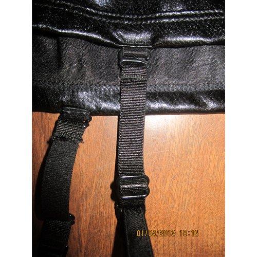 Detachable, adjustable plastic garter straps