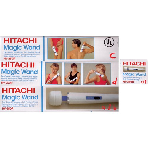Each side of the Hitachi box