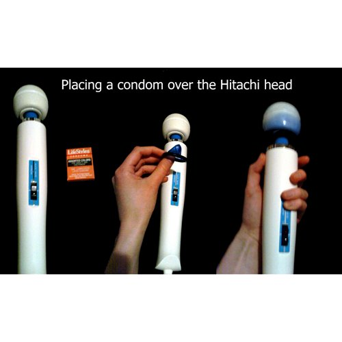 Condom over the Hitachi