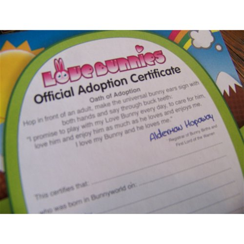 Adoption cert