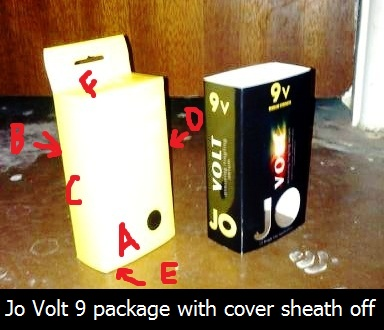 Jo Volt 9 package with cover sheath off