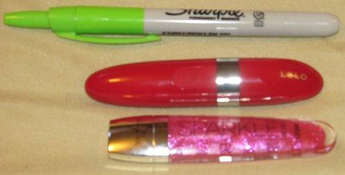 Mia 2 compared to Victoria Secret Lipgloss and Sharpie