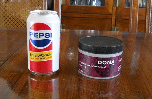 Dona bath salts size comparison