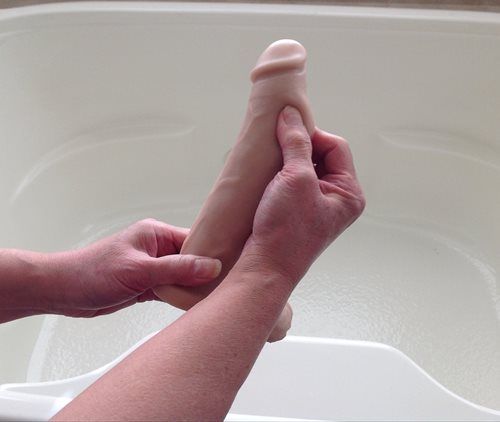squishy, pinch more than an inch !