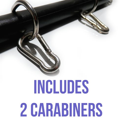 Includes 2 Carabiners