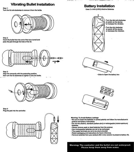 Instructions for Inserting Bullet and Batteries