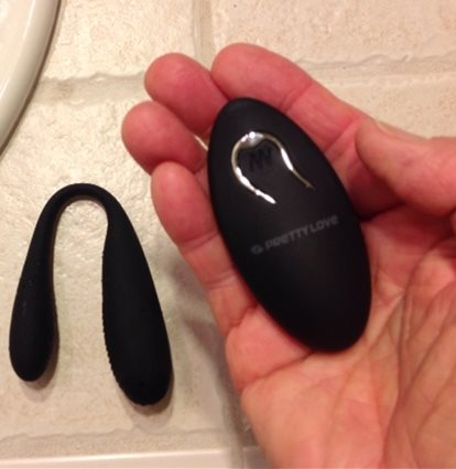 Remote fits comfortably in palm of hand
