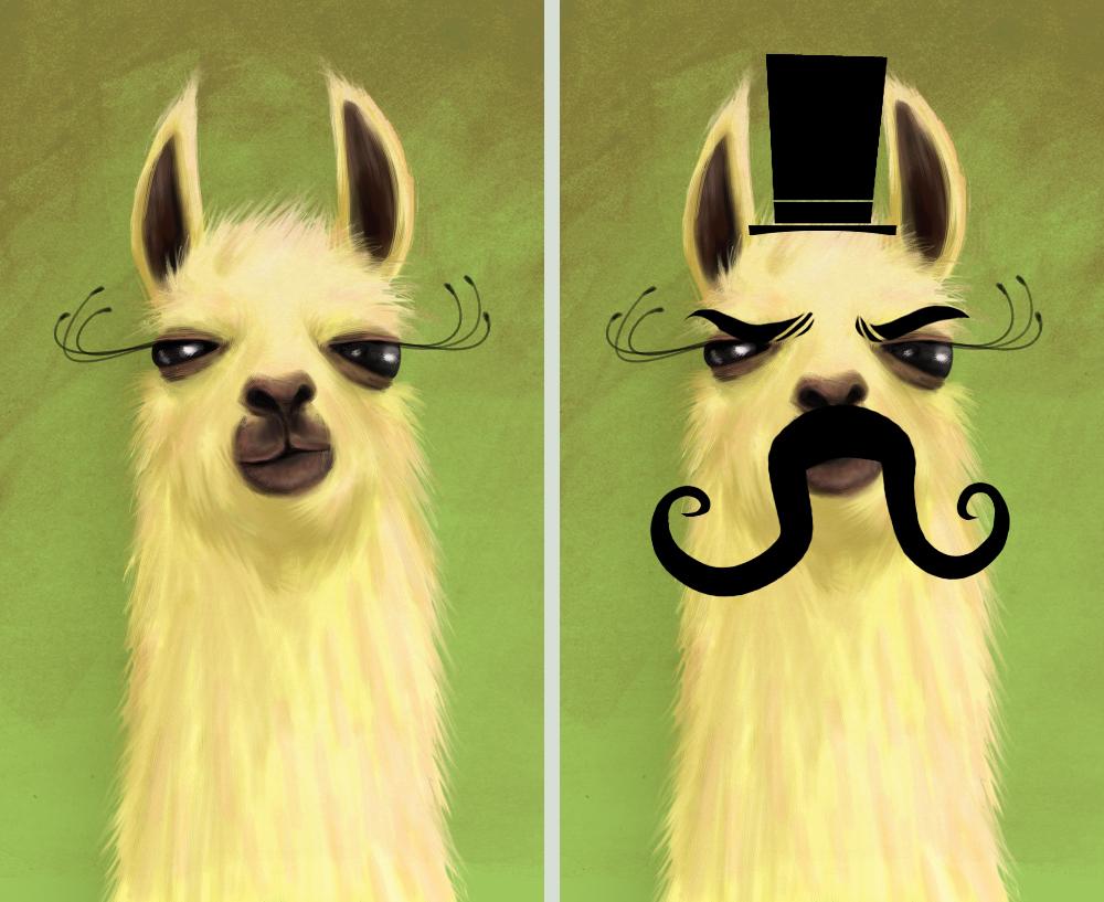 llama and evil llama