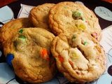 Dark Chocolate Peanut M&M Cookies