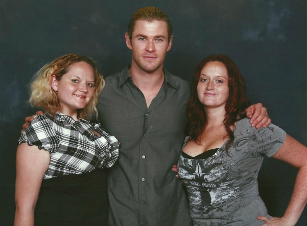 myself, Chris Hemsworth and my sister