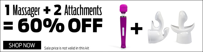 Save 60% on Massager and 2 Attachments Kit