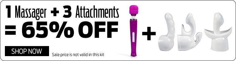 Save 65% on Massager and 3 Attachments Kit