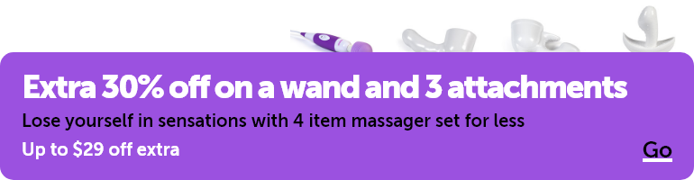 Extra 30% off on a wand and 3 attachments