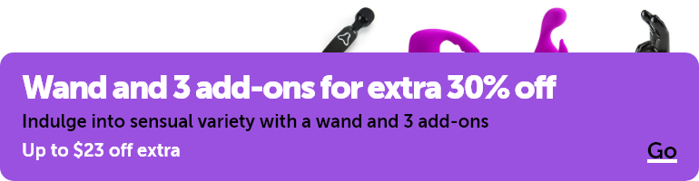 Wand and 3 add-ons for extra 30% off