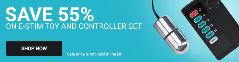 Save 60% on E-stim Toy and Controller Set!