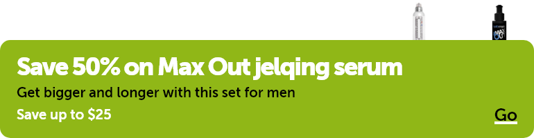 Save 50% on Max Out jelqing serum