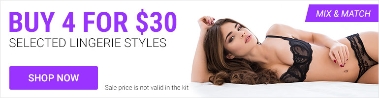Sexy Lingerie Special: Get 4 for $30