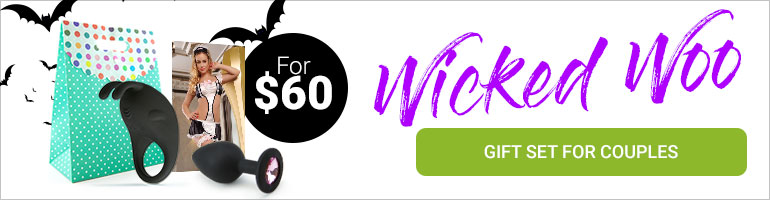 "The ""Wicked Woo"" Gift Set for Couples For $60"