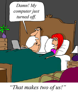 Computing in Bed Can Be Hazardous to Your Sex Life