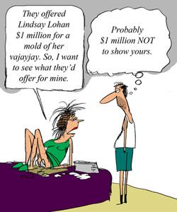 Lindsay Lohan Offered $1M for Vagina Molding