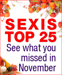 Top 25 Most Popular SexIs Articles in November