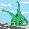 Mongolian Dinosaur Fairyland Features Frenching Dinos