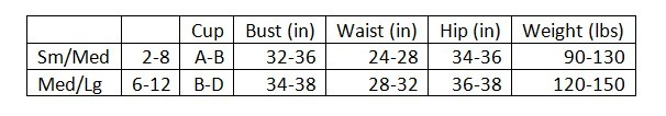 guessed sizing for M/L