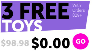 3 FREE Sex Toys With Orders $29+