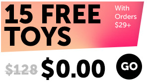 15 FREE Toys With Orders $29+